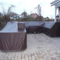 Outdoor Bar winter cover installed