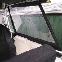 Canvas Enclosure detail - starboard side